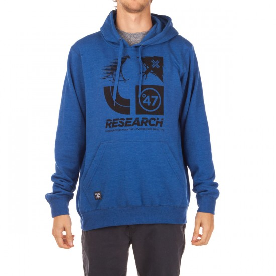 LRG RC Logo Cluster 47 Pullover Hoodie - Royal Heather