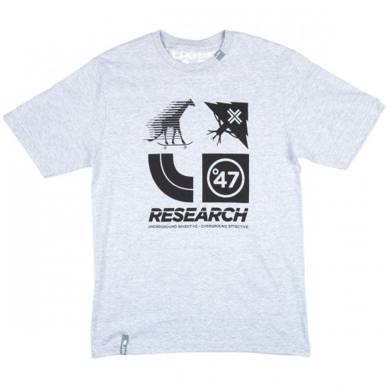 LRG RC Logo Cluster 47 T-Shirt - Ash Heather