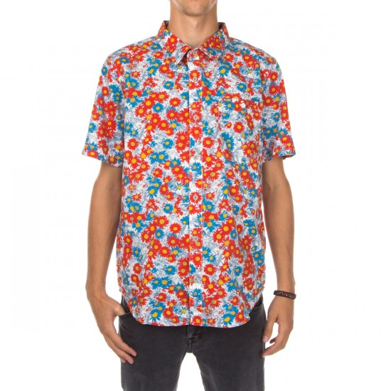 LRG RC Printed Short Sleeve Woven Shirt - Off White Floral