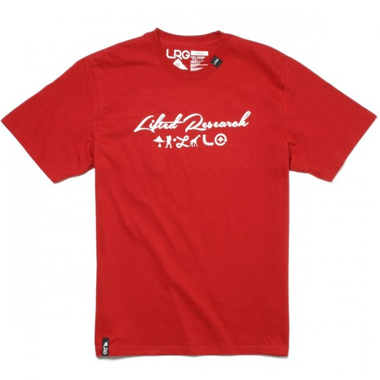 LRG RC Scripted T-Shirt - Lobster Red