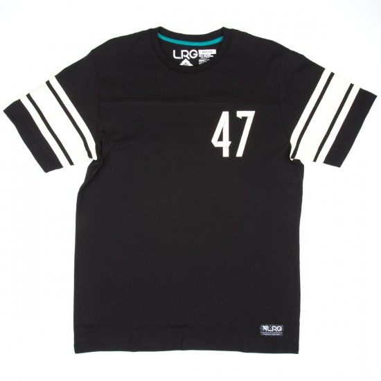 LRG RC Short Sleeve Jersey T-Shirt - Black