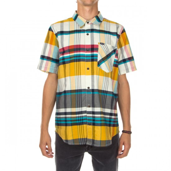 LRG RC Short Sleeve Madras Plaid Shirt - Natural