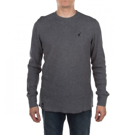 LRG RC Solid Thermal Shirt - Charcoal Heather
