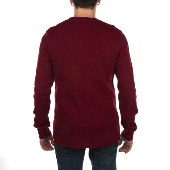 LRG RC Solid Thermal Shirt - Maroon