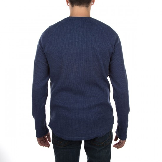 LRG RC Thermal Henley Shirt - Navy Heather