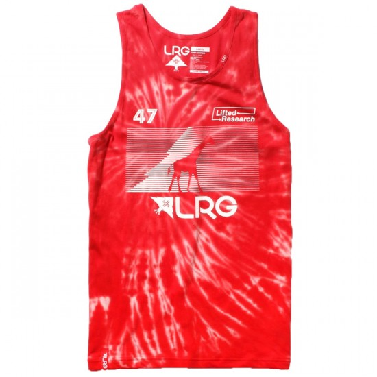 LRG RC Tie Dye Tank Top - Red
