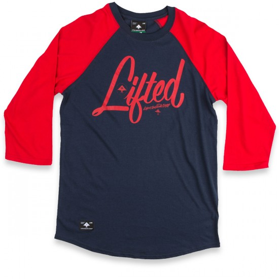 LRG Research Collection 3/4 Sleeve Raglan T-Shirt - Navy