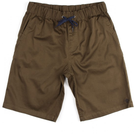 LRG Research Collection Elastic Waist Walk Shorts - Olive