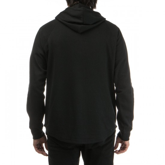 LRG Research Collection Pullover Henley Hoodie - Black