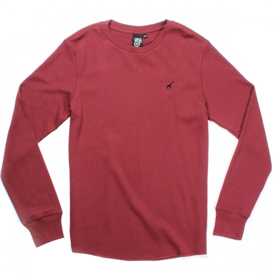 LRG Research Collection Thermal Shirt - Burgandy