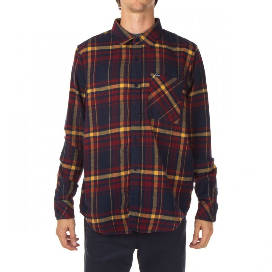 LRG Root Down Long Sleeve Woven Shirt - Navy