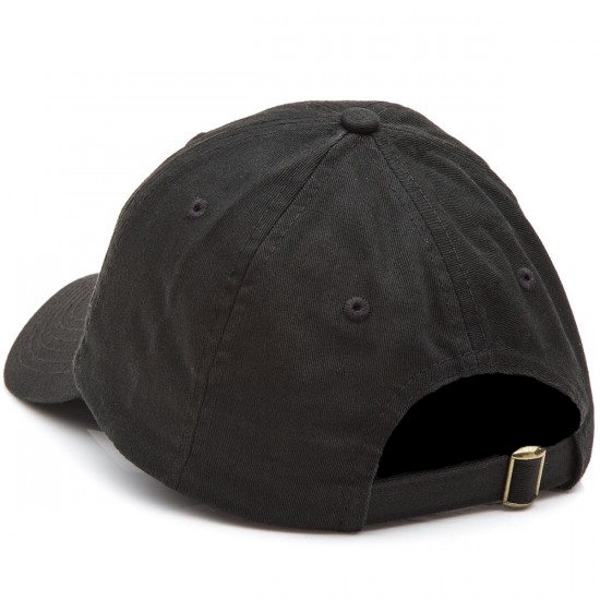 Lurk Hard Gold Flag Polo Hat - Black