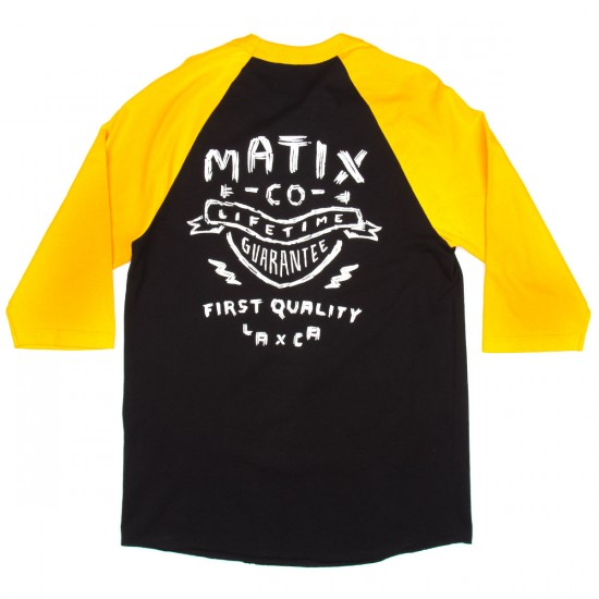 Matix Badge Baseball T-Shirt - Gold