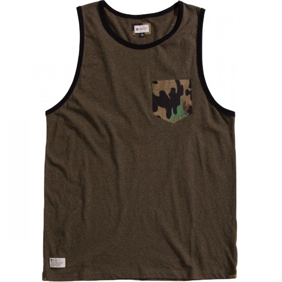 Matix Fleck Tank Top - Army