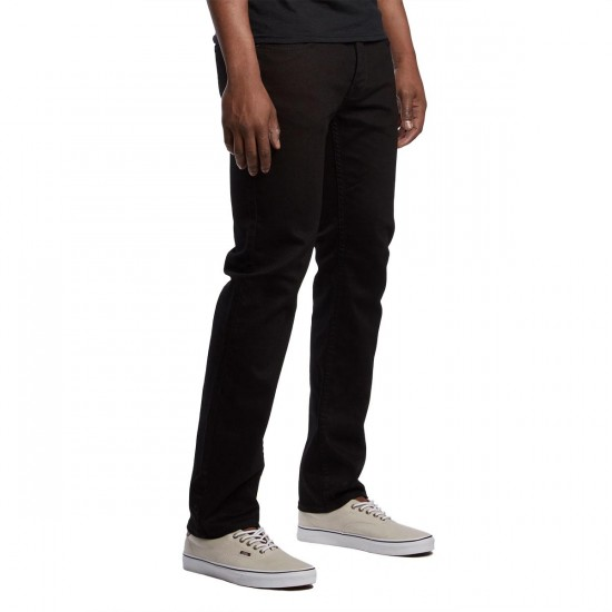 Matix Gripper Slim Straight Jeans - True Black - 33 - 32