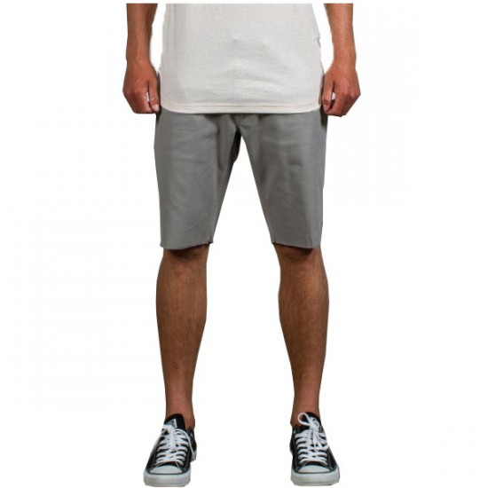 Matix Gripper Twill Shorts - Light Grey