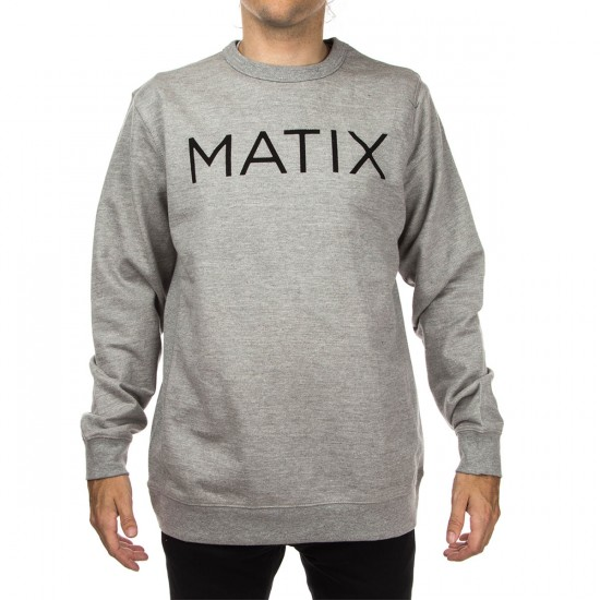 Matix Monoset F15 Crew Fleece Sweatshirt - Heather Grey