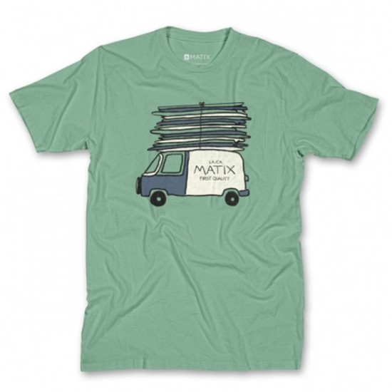Matix Stacked T-Shirt - Mint