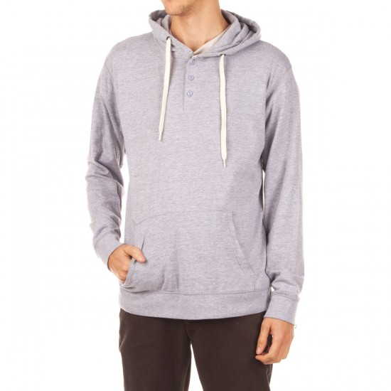 Matix World Henley Knit Hoodie - Grey Heather
