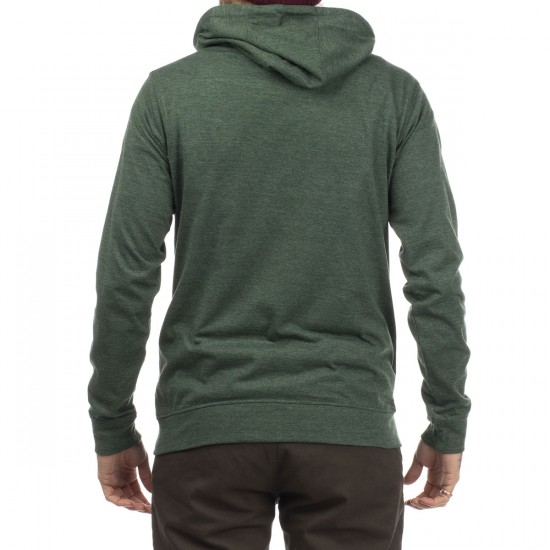 Matix World Zip Knit Hoodie - Forest Heather