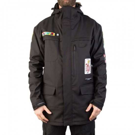 Neff Black Ops Softshell Snowboard Jacket - Black