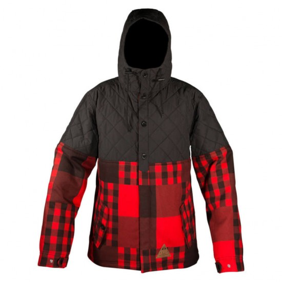 Neff Bloom Jacket - Red Plaid