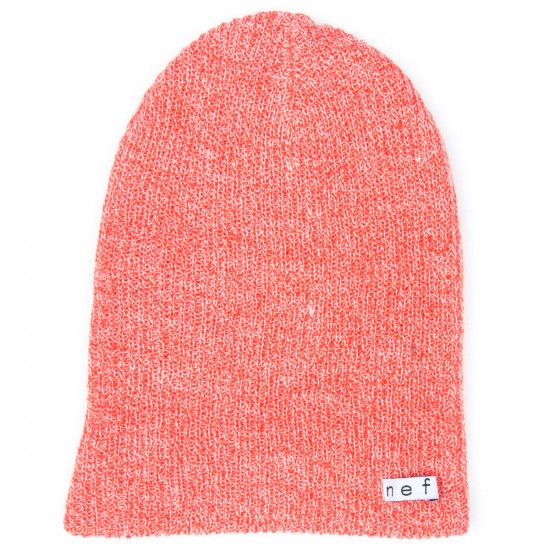 Neff Daily Heather Beanie - Coral/White