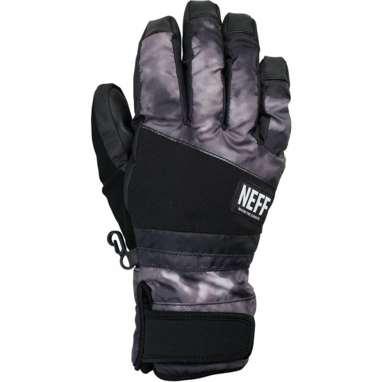 Neff Digger Snowboard Gloves - Black Crystal
