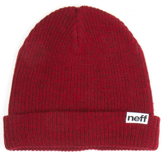 Neff Fold Heather Beanie - Maroon/Red