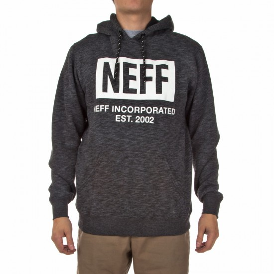 Neff New World Hoodie - Black Heather