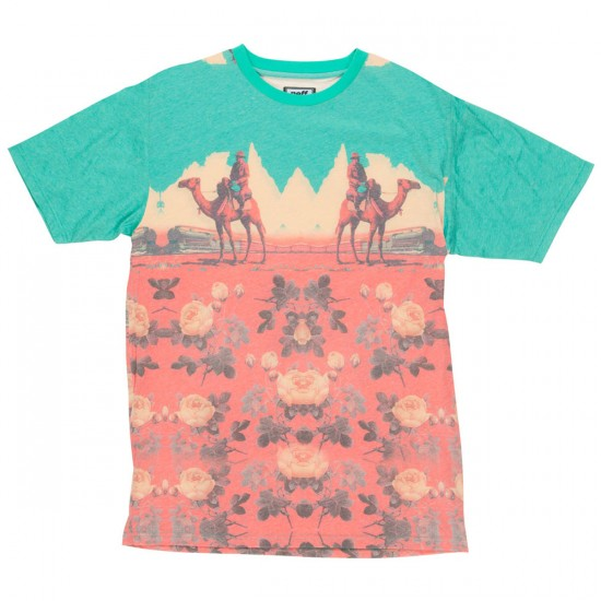 Neff World Travelers T-Shirt - Teal/Orange
