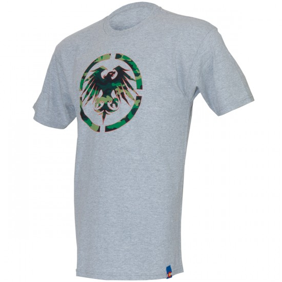Never Summer Camo Eagle T-Shirt - Athletic Heather