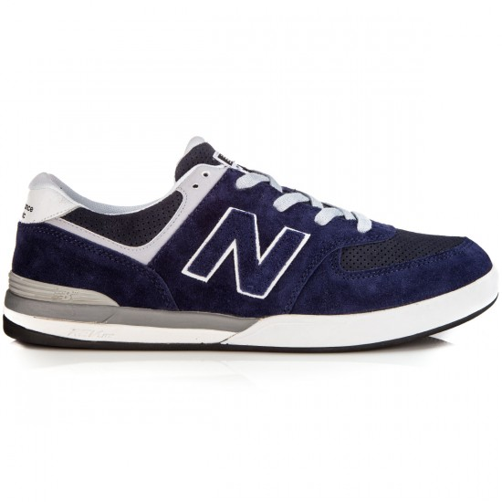 New Balance Logan-S 636 Shoes - Navy/Grey Suede - 6.0