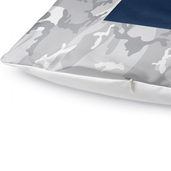 Night Shift Camo Block Comforter Set - Navy/Red - Twin