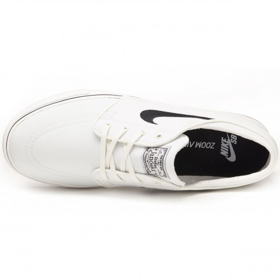 Nike Zoom Stefan Janoski Canvas Shoes - Summit White/Black - 8.5