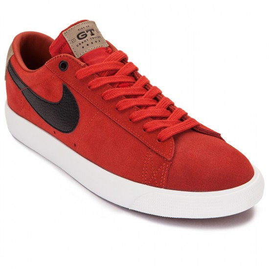 Nike Blazer Low GT Stratosphere QS Shoes - Cinnabar/Bamboo Black - 13.0
