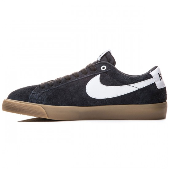 Nike Blazer Low GT Shoes - Black/Gold/White - 6.0