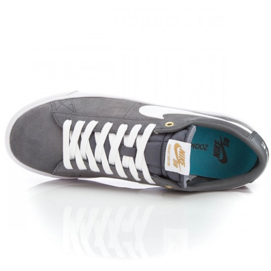 Nike Blazer Low GT Shoes - Grey/White/Blue - 6.0