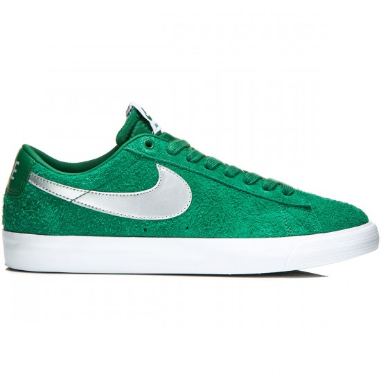 Nike Blazer Low GT Shoes - Pine Green/Grey/White/Silver - 6.0