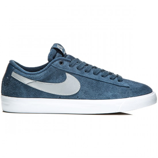 Nike Blazer Low GT Shoes - Squadron/Blue/Crimson/Silver - 6.0