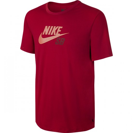 Nike SB Dri Fit Icon Logo T-Shirt - Gym Red/Team Red