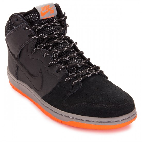 Nike Dunk High PRM Shield Shoes - Black/Reflect Silver/Grey - 6.0