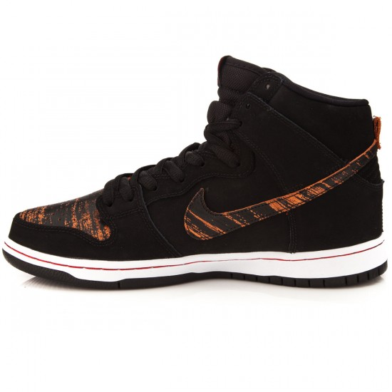 Nike Dunk High Pro SB Shoes - Black/Black/Red - 6.0
