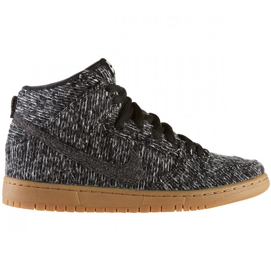 Nike Dunk High Warmth Shoes - Black/Black/Gum - 10.0