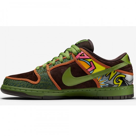 Nike SB Dunk Low Premium De La Soul Shoes - Safari/Brown/Green - 4.0