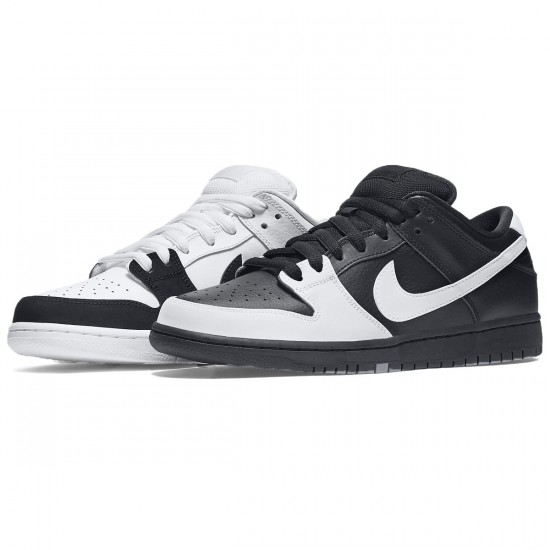 Nike Dunk Low Premium SB Shoes - Black/Black/White/White - 8.0