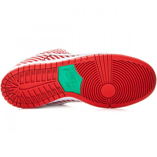 Nike Dunk Low Premium SB Shoes - Red/Green/White - 6.0