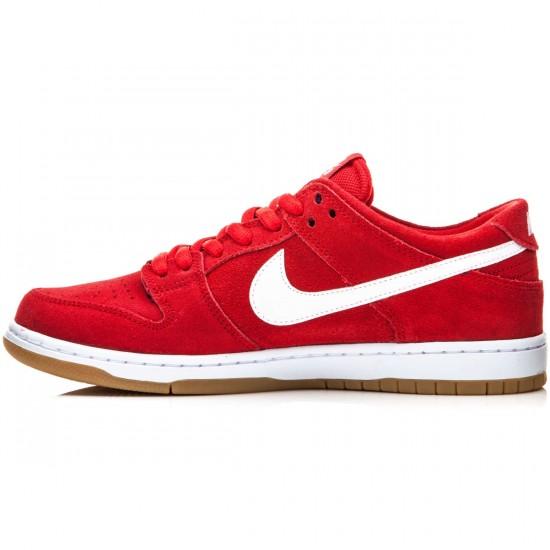 Nike Dunk Low Pro Ishod Wair Shoes - Red/Gum/Light Brown/White - 10.0