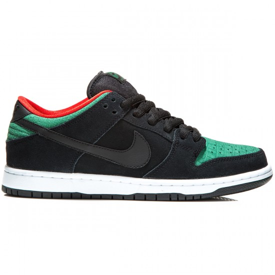 fb2ff9d5cdaa Nike SB Dunk Low Pro Shoes - Black Gorge Green Red - 6.0