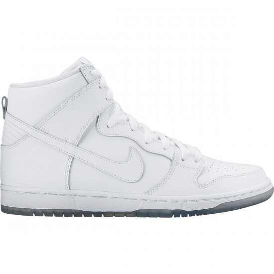 Nike Dunk High Pro SB Shoes - White/Light Base Grey/White - 4.0